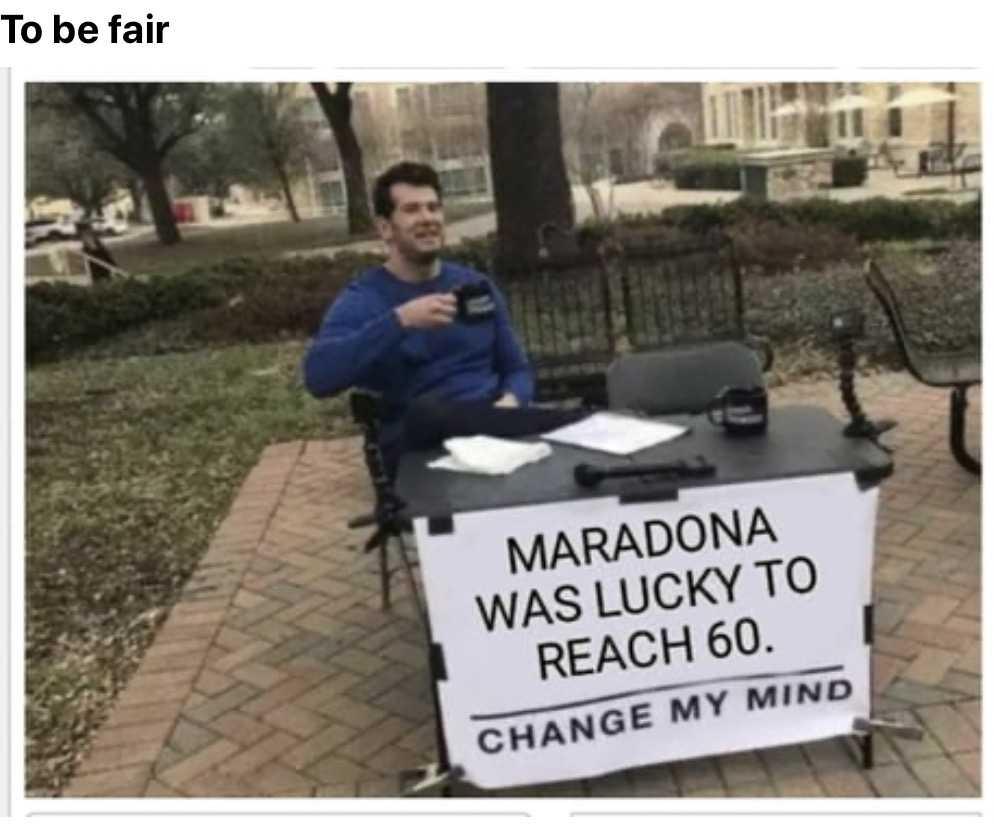funny maradona memes - lucky