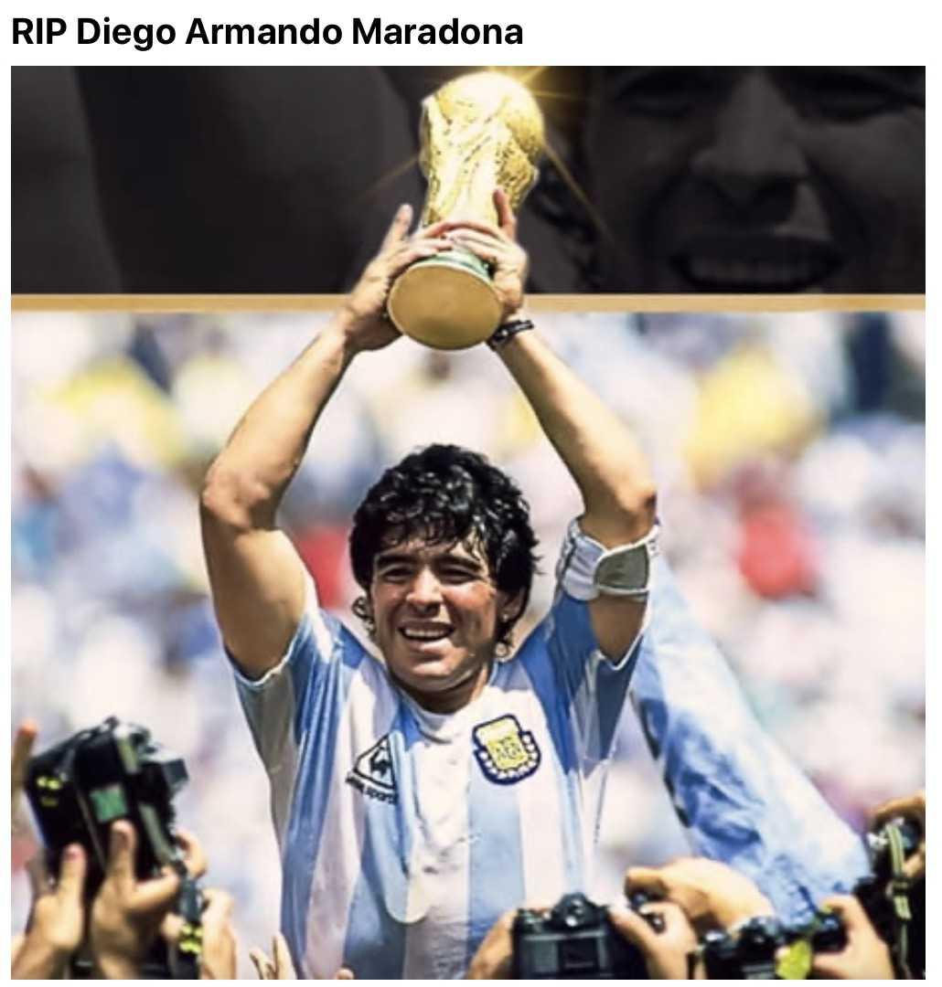funny Maradona memes - rip