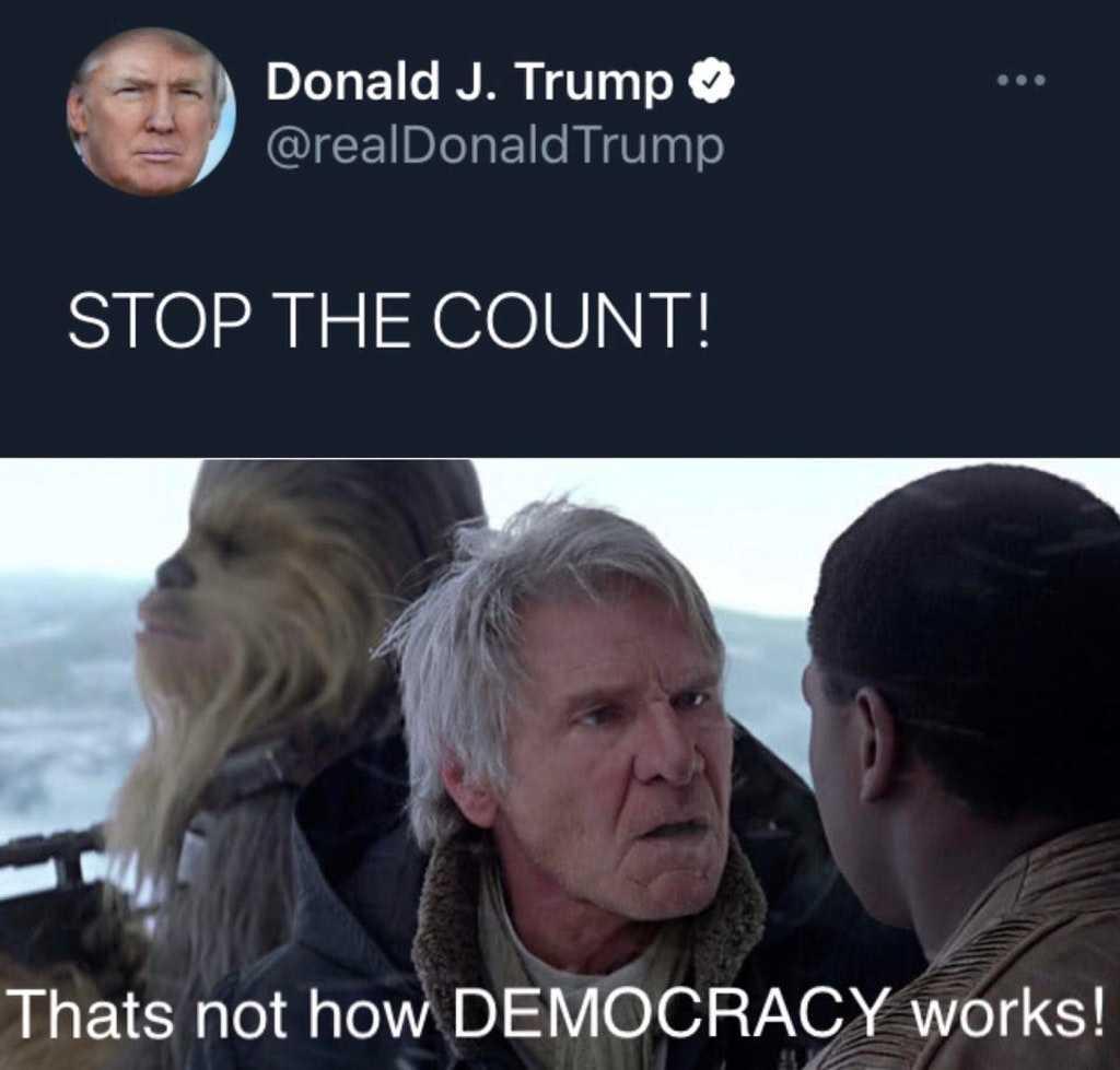 funny life meme - not democracy