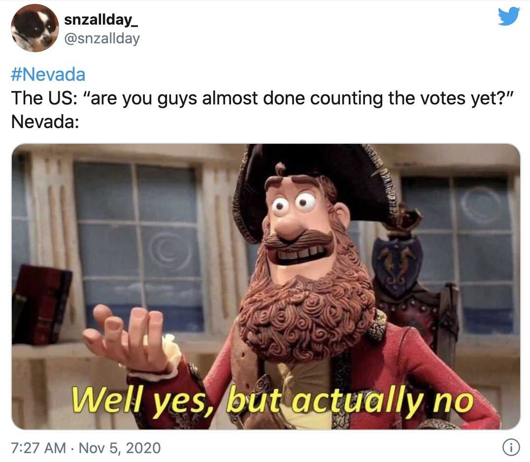 nevada vote counting meme 2 - done counting yet
