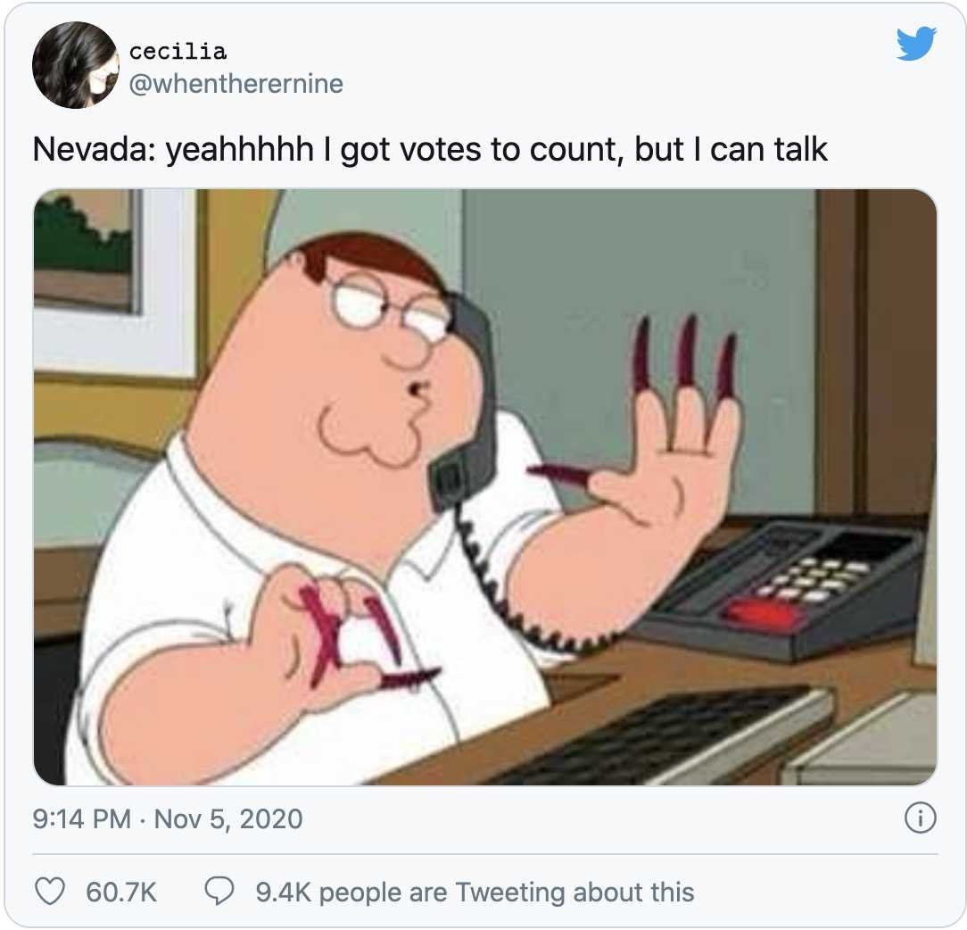 nevada vote counting memes 8 - family guy counting votes
