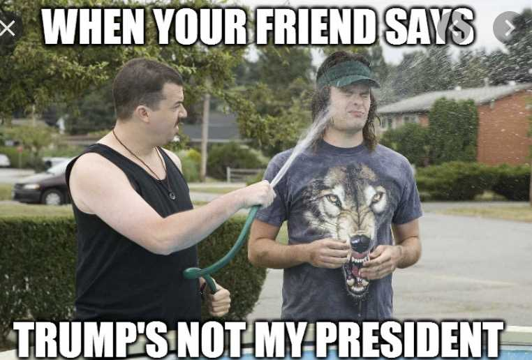 not my president meme - friends