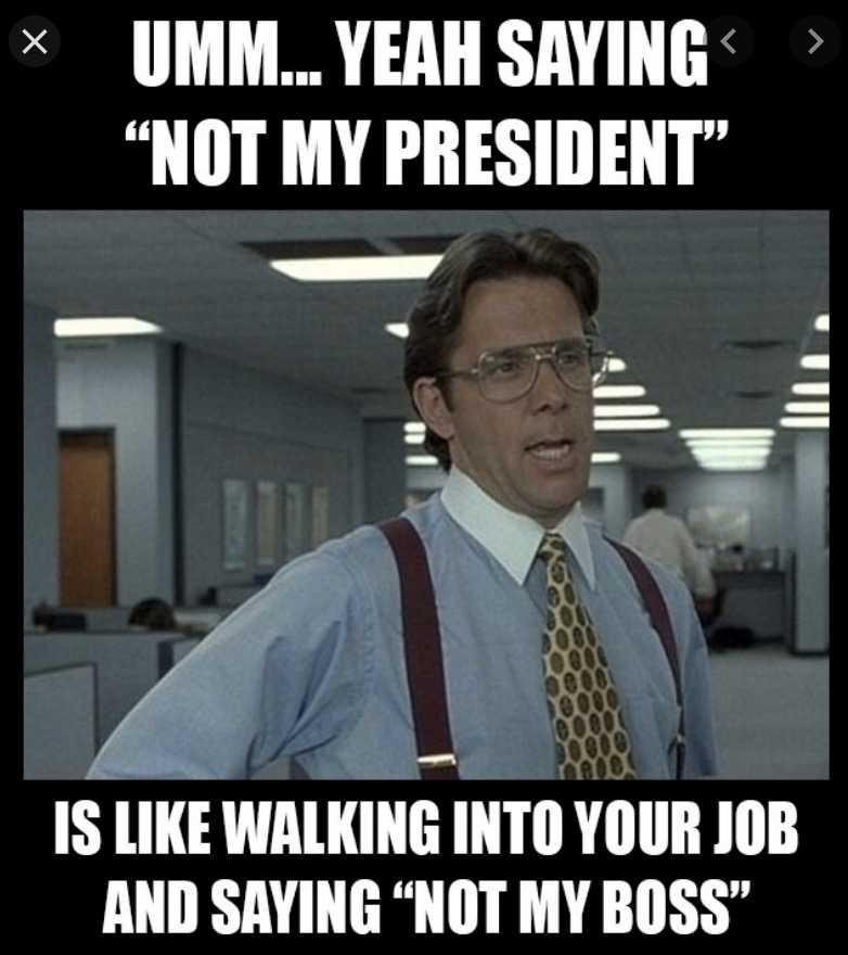 not my president memes - not my boss