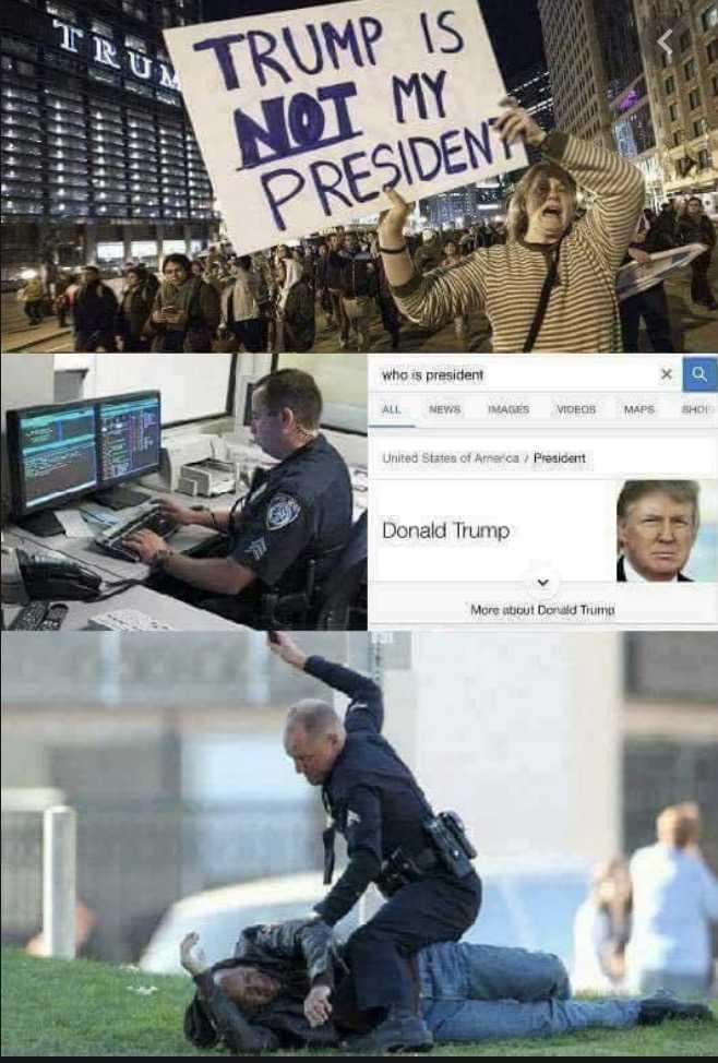 not my president memes - police