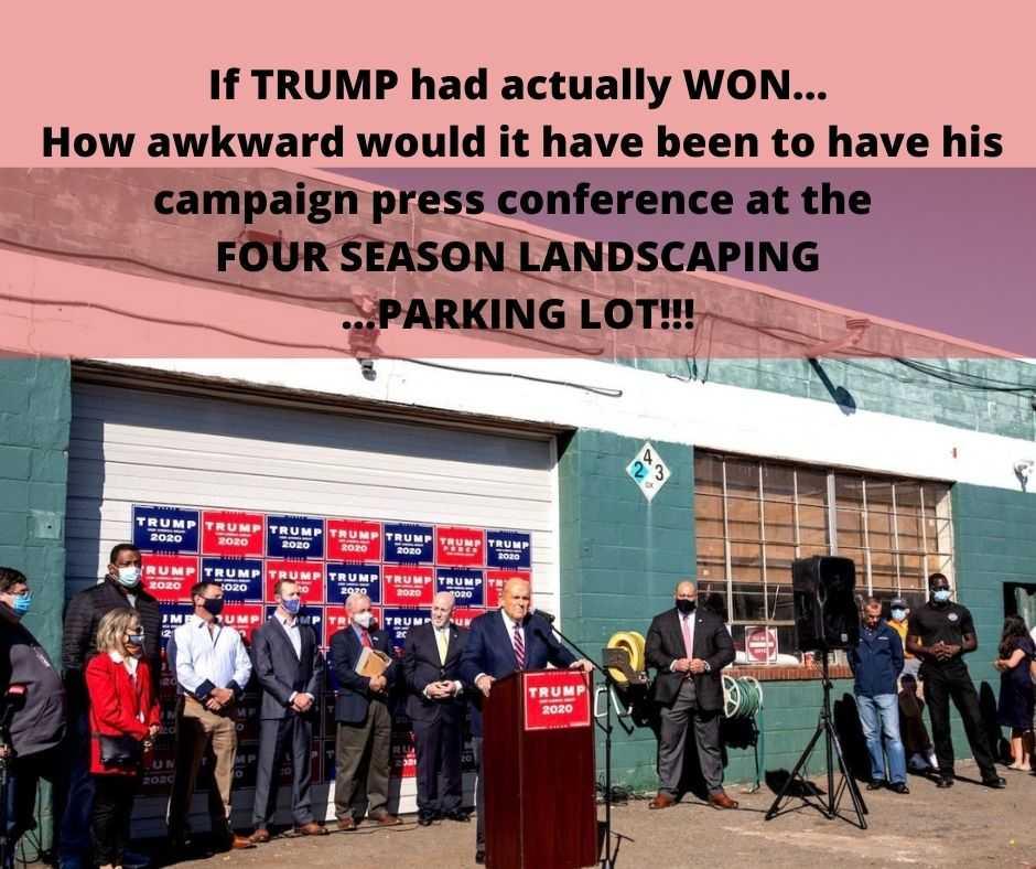 trump election defeat memes - four seasons total landscaping