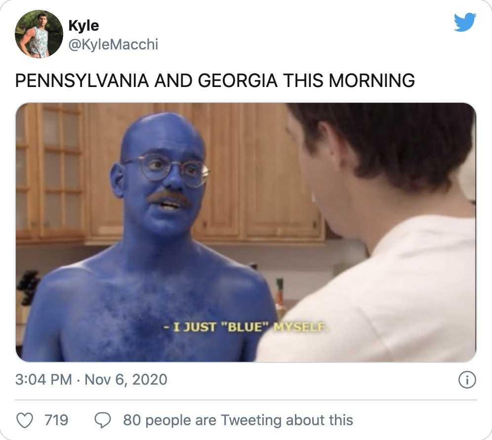 trump election defeat memes - Pennsylvania blue themselves