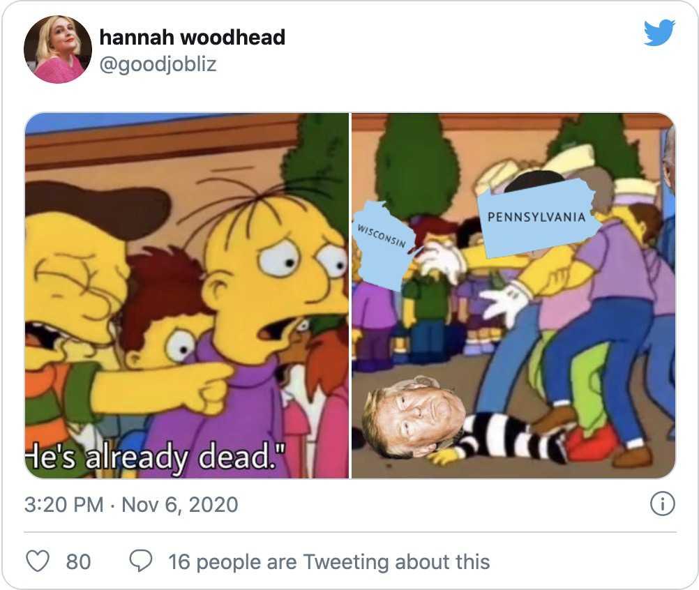 trump election defeat memes - simpsons