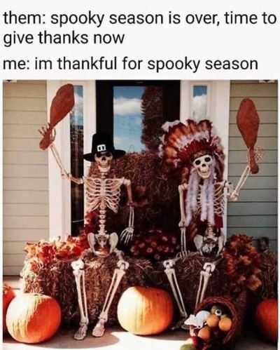 funny thanksgiving memes - halloween 4 ever