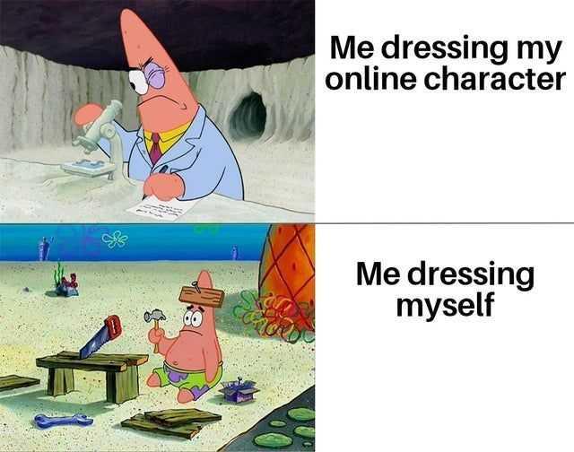 Funny Spongebob memes - effort is all spent online