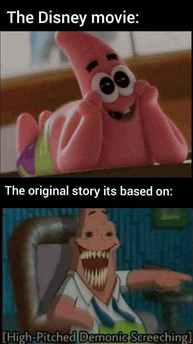 Funny Spongebob memes - Disney filter