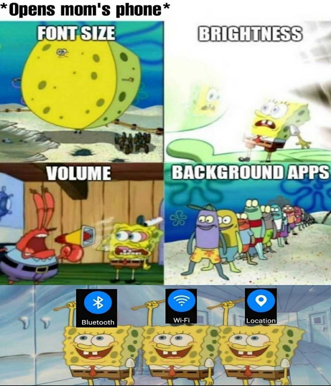 Funny Spongebob memes - mom's phone