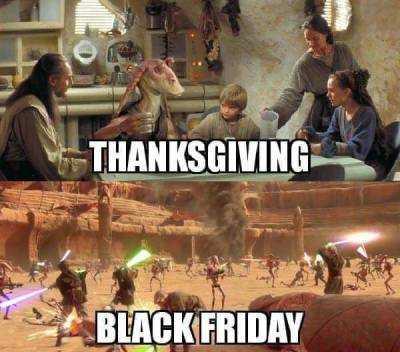 funny thanksgiving memes - starwars thansgiving meme