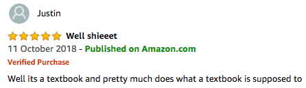 funny amazon review - textbook