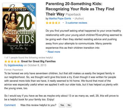 funny amazon review - parenting
