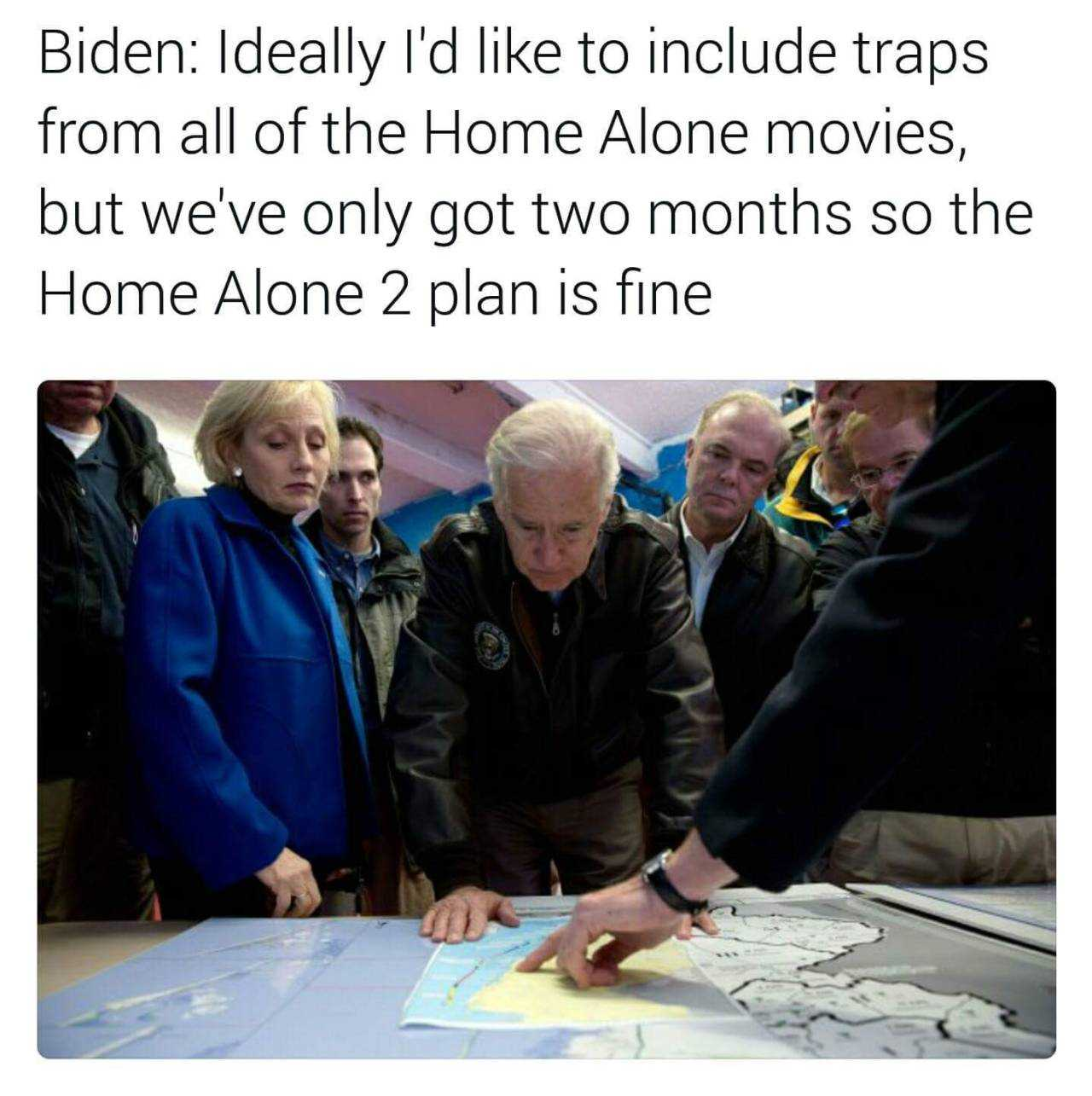 Obama and Biden Memes - home alone 2 in the white house