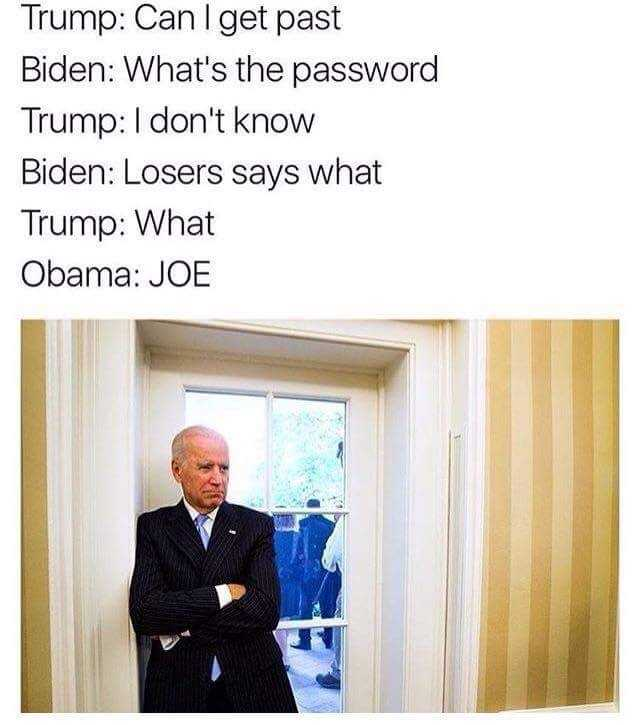 Obama and Biden Memes - losers says what