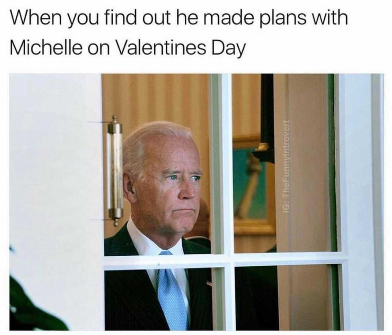 Obama and Biden Memes - alone on valentines day