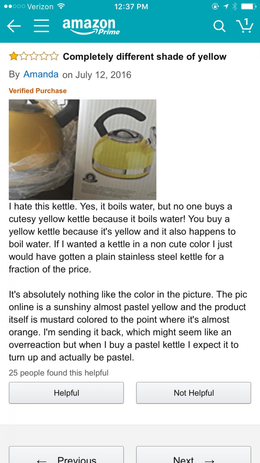 amazon reviews - kettle