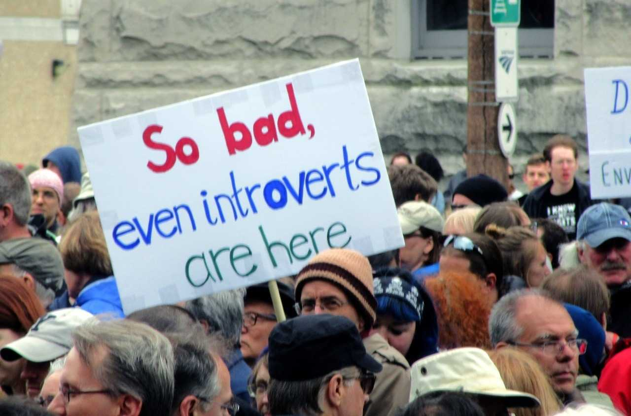 funny protest sign memes - introverts protesting