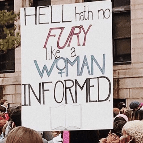 funny protest sign pictures - hell hath no fury like a woman informed