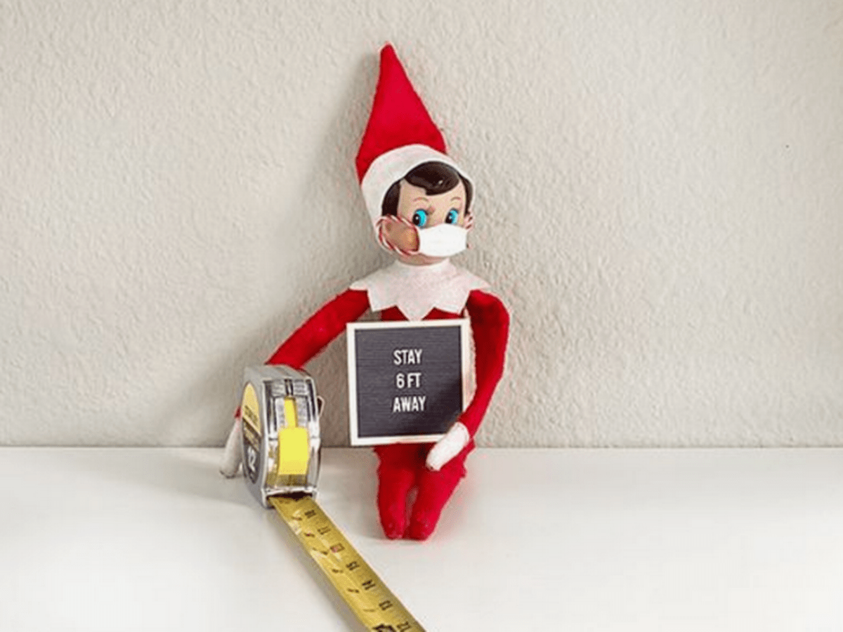 2020 Elf On The Shelf - Elf On The Shelf Mask And Measuring Tape