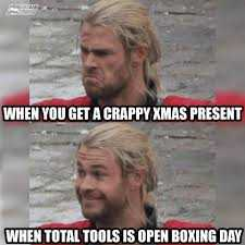 Boxing Day Meme - total tools