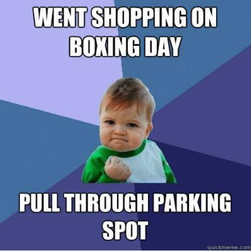Boxing Day Memes - little victories