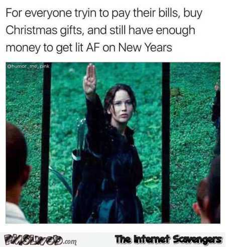 funny New Years memes - may the odds be in your favor