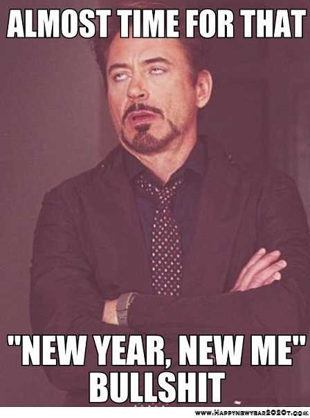 funny New Years memes - resolutions