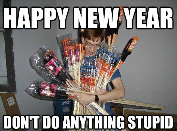 funny New Years memes - fireworks