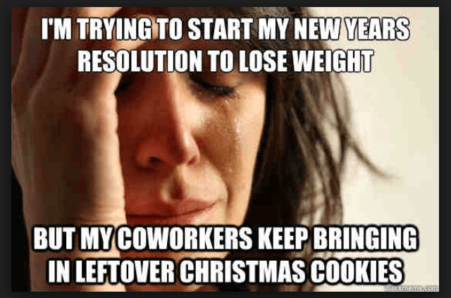 Funny New Years Resolution Meme - leftover christmas cookies