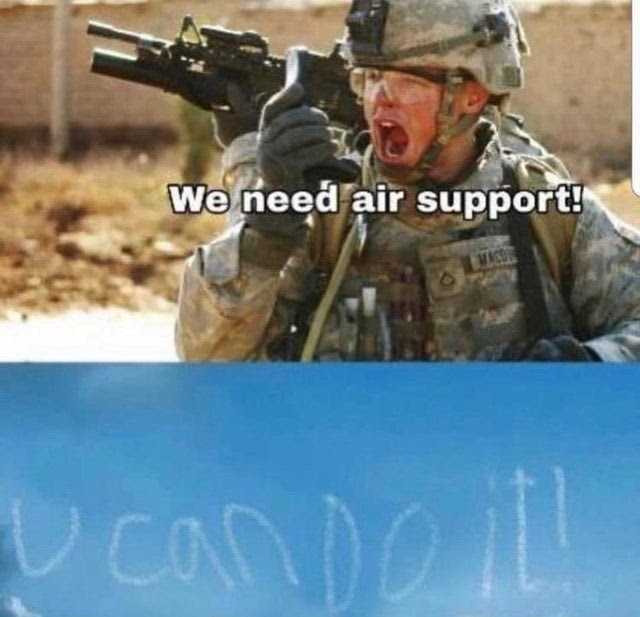 wholesome memes - air support