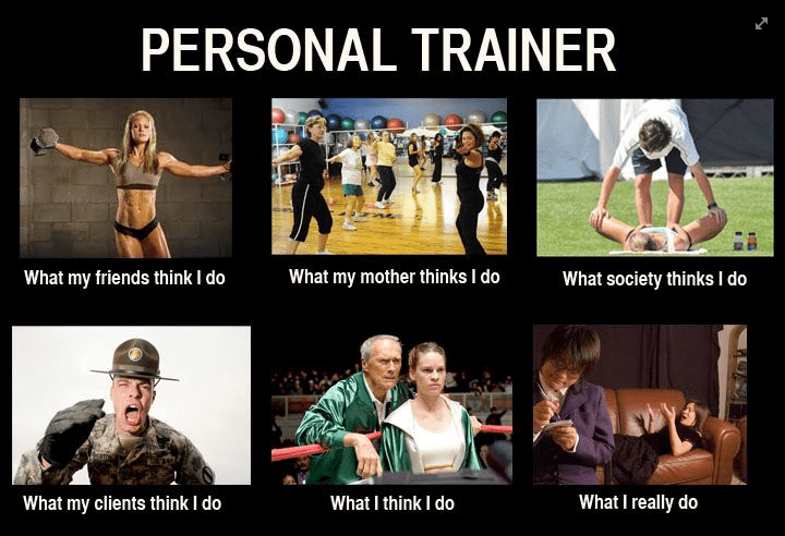 funny gym memes - personal trainer reality