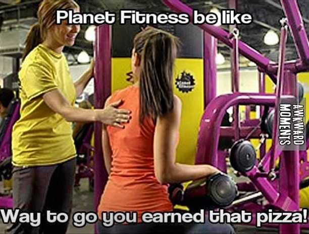 funny gym memes - planet fitness awards