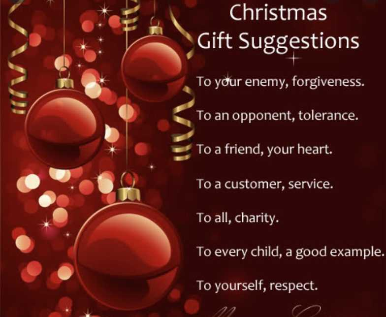 Uplifting christmas notes - gift suggestions
