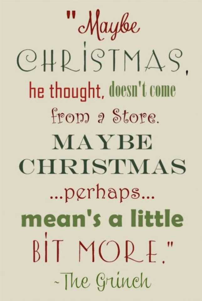 uplifting christmas quotes - grinch