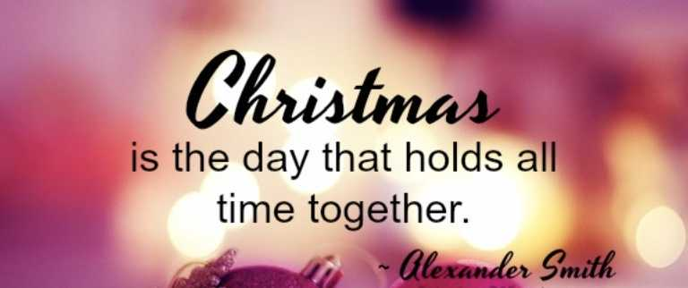 Uplifting Christmas Quotes - holding time together