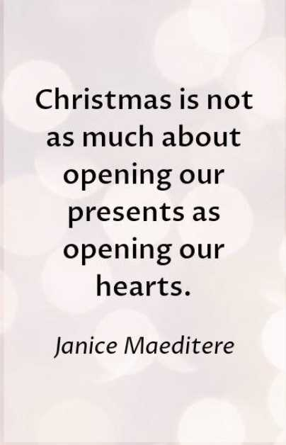 Uplifting christmas quotes - opening