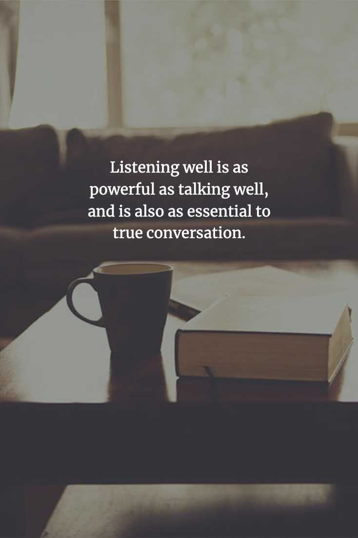 Chinese Proverbs - Listening Is Important