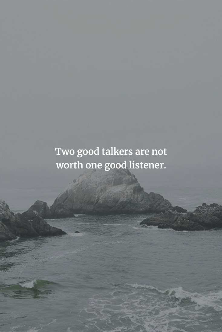 Chinese Proverbs - Listening Is More Important