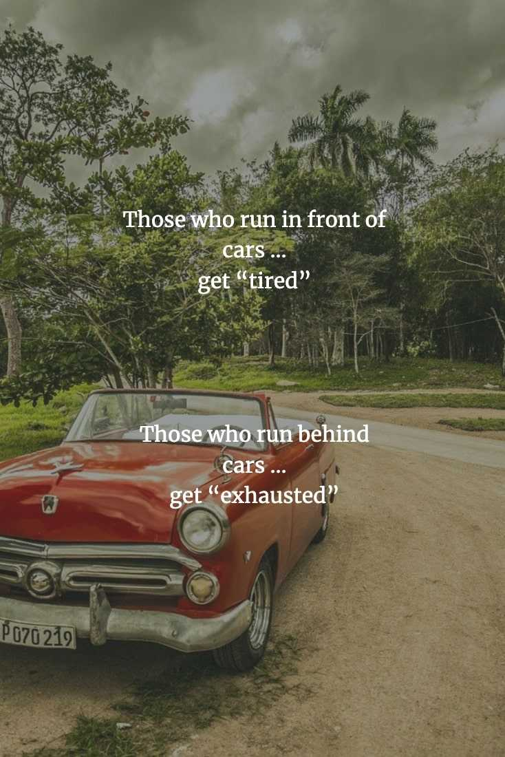 Funny Chinese Proverbs - Running And Cars