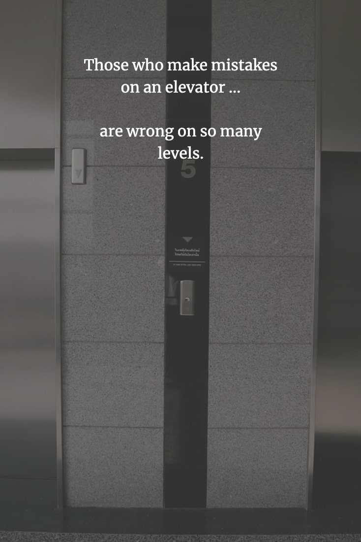 Funny Chinese Proverb - Elevators
