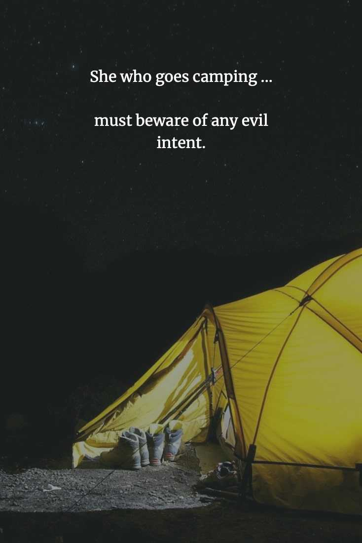 Funny Chinese Proverb - Camping