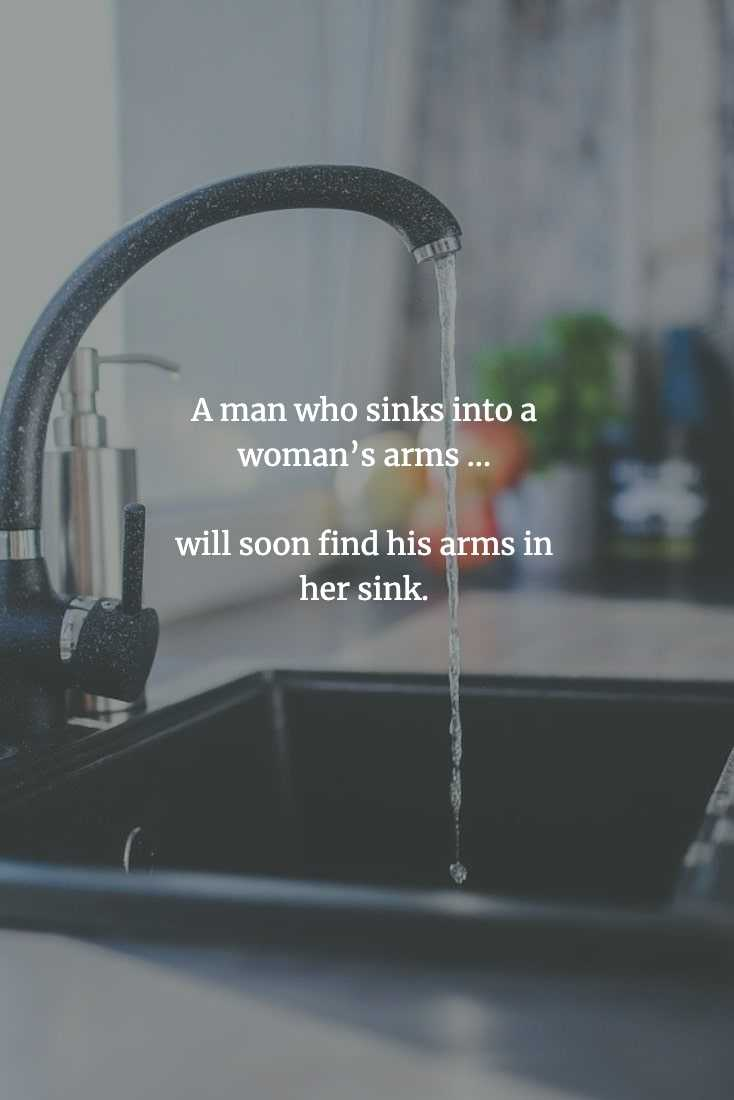 Funny Chinese Proverb - Sinks