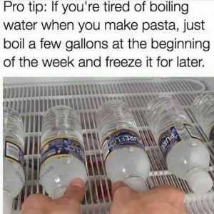 Life Hacks - Pre Boiled Water