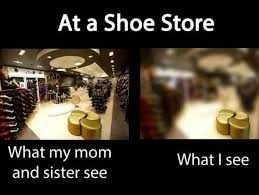 Relatable Shopping Memes - Shoe Myopia