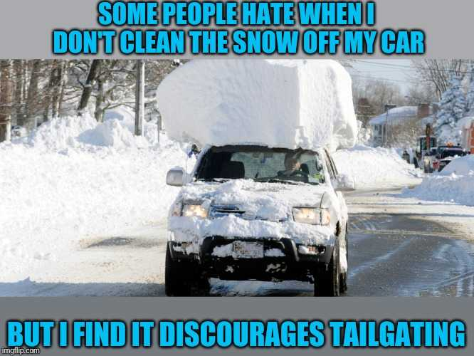 Texas Freeze Memes - Carrying Around Snow Texas On Car Roof