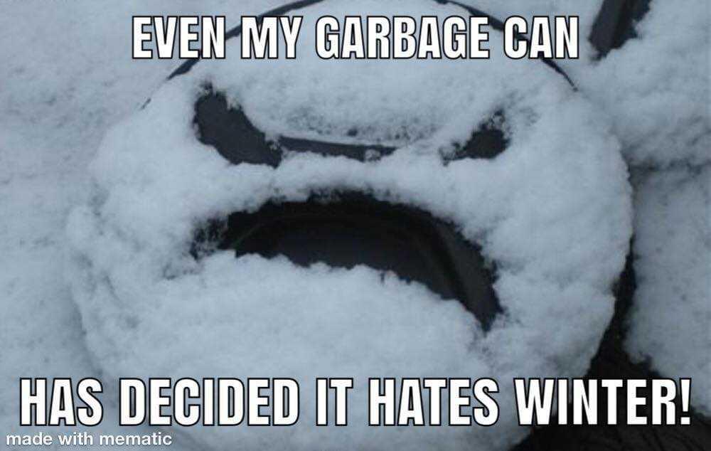 Texas Freeze Memes - Garbage Can Emoji