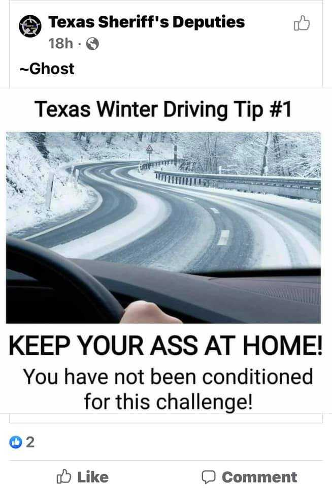 Texas Freeze Memes - Drink At Home And Don't Drive