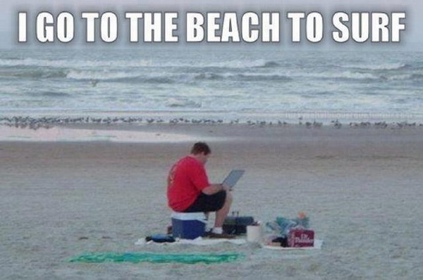 Beach Memes - nice day for surfing